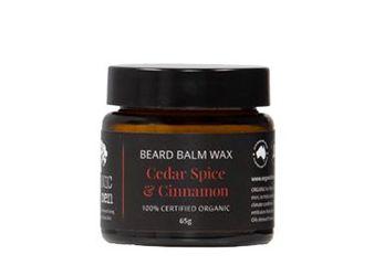 Beard Balm Wax Cedar Spice & Cinnamon 100% Certified Organic
