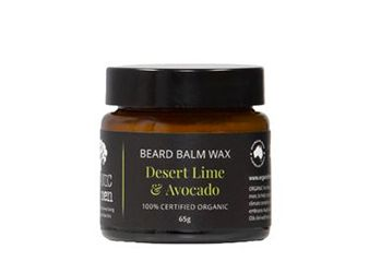 Beard Balm Wax Desert Lime & Avocado 100% Certified Organic